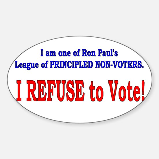 NO VOTE #3 Oval Decal
