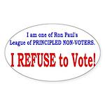 NO VOTE #3 Oval Sticker