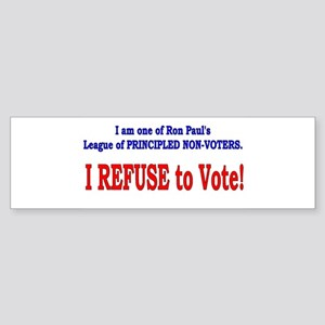 NO VOTE #3 Bumper Sticker