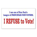 NO VOTE #3 Rectangle Sticker