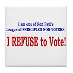 NO VOTE #3 Tile Coaster