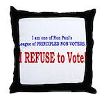 NO VOTE #3 Throw Pillow