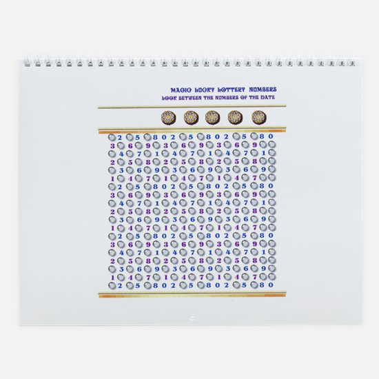 Magic Lucky Lottery Numbers Wall Calendar