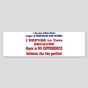 No VOTE #2 Bumper Sticker