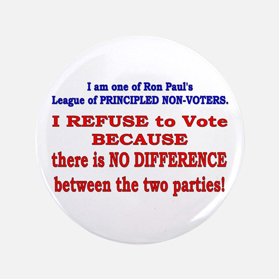 "No VOTE #2 3.5"" Button"