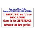 No VOTE #2 Rectangle Sticker 50 pk)
