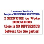 No VOTE #2 Rectangle Sticker