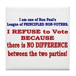 No VOTE #2 Tile Coaster