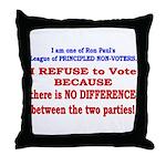No VOTE #2 Throw Pillow