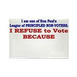 NO VOTE #1 Rectangle Magnet (100 pack)