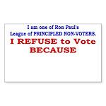 NO VOTE #1 Rectangle Sticker 50 pk)