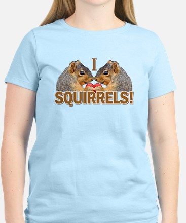I Heart / Love Squirrels! Women's Light T-Shirt
