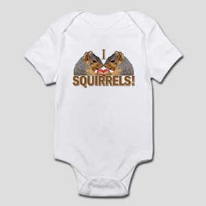 I Heart / Love Squirrels! Infant Bodysuit