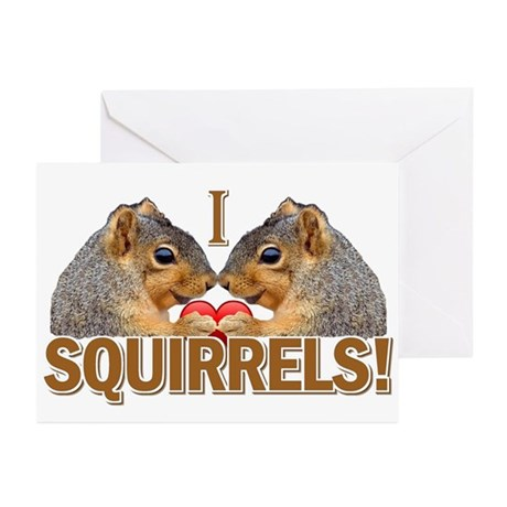 I Heart / Love Squirrels! Greeting Cards (Pk of 10