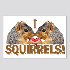 I Heart / Love Squirrels! Postcards (Package of 8)