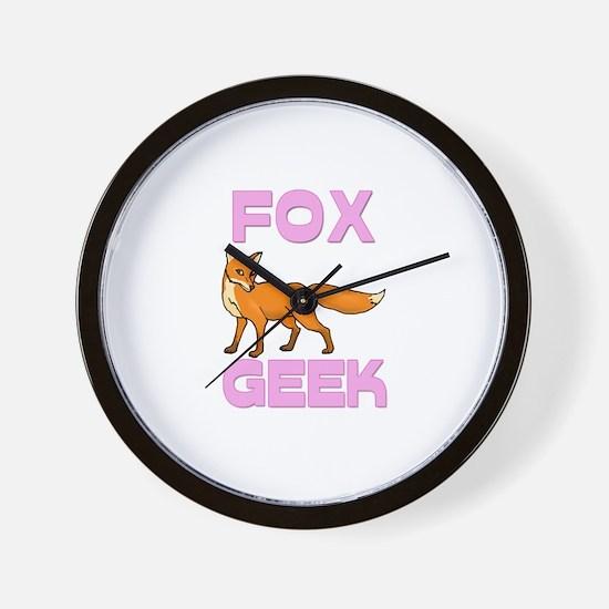 Fox Geek Wall Clock