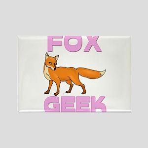 Fox Geek Rectangle Magnet