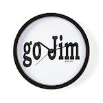 go Jim Wall Clock