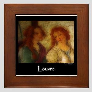 Scenes From the Louvre Framed Tile