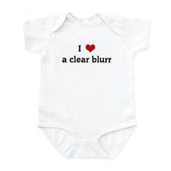 I Love a clear blurr Infant Bodysuit