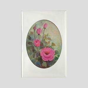 Pink Rose Garden Rectangle Magnet