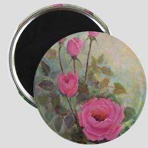 Pink Rose Garden Magnet