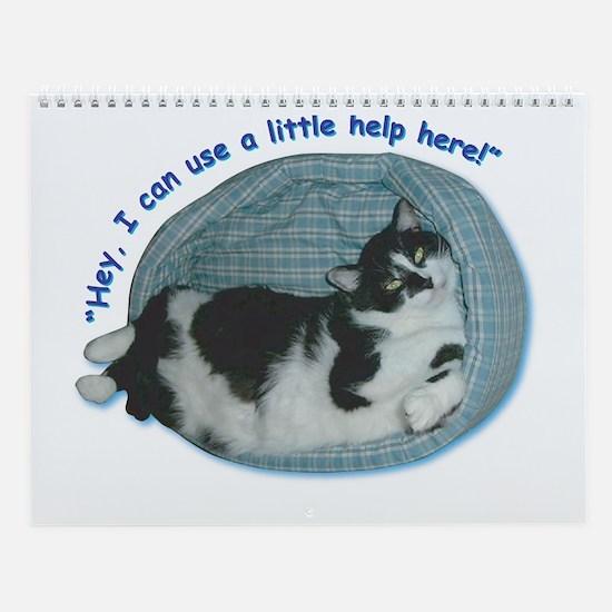 Tuxedo Cat Wall Calendar