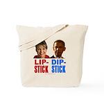 Palin - Obama Lipstick - Dipstick Tote Bag
