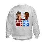 Palin - Obama Lipstick - Dipstick Kids Sweatshirt