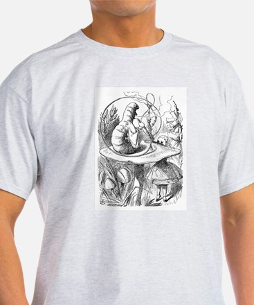 """The Caterpillar """"Who Are You?"""" T-Shirt"""