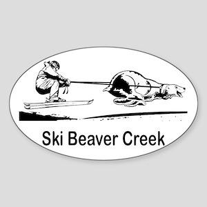 Ski Beaver Creek CO Oval Sticker