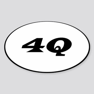 4Q Oval Sticker