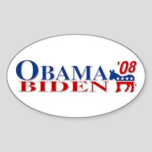 ::: Obama Biden 08 ::: Oval Sticker