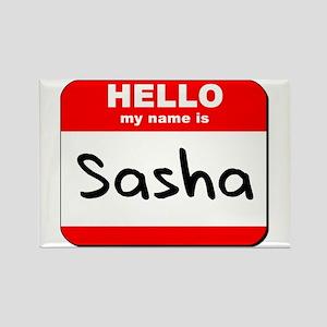 Hello my name is Sasha Rectangle Magnet