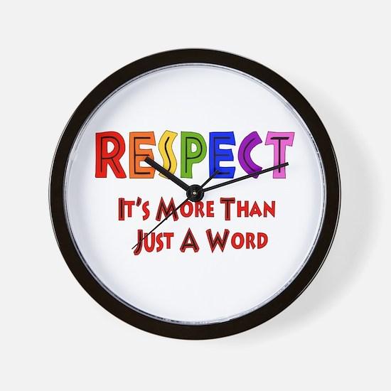 Rainbow Respect Saying Wall Clock