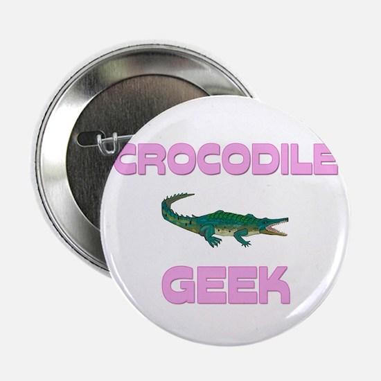 "Crocodile Geek 2.25"" Button"