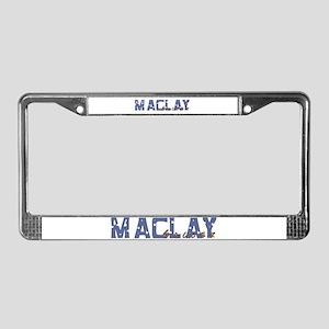 Maclay Soccer Splatter License Plate Frame