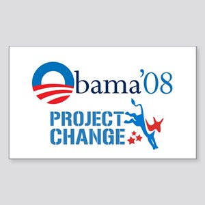 Project Change: Obama '08 Rectangle Sticker