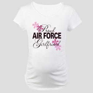 Proud Air Force Girlfriend Maternity T-Shirt