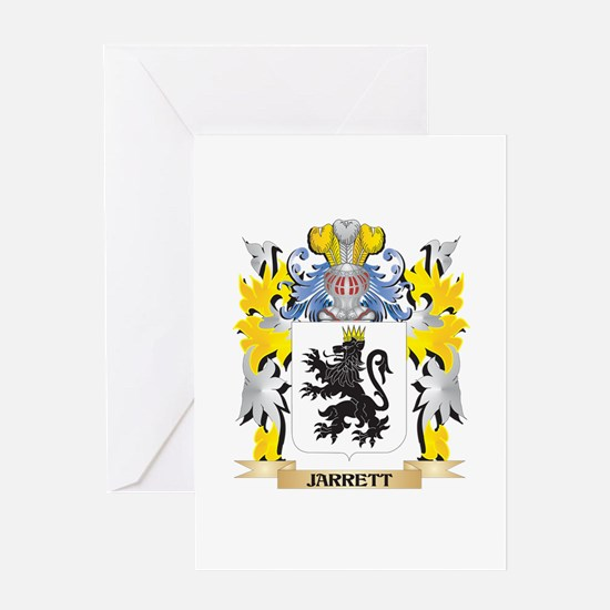 Jarrett Coat of Arms - Family Crest Greeting Cards