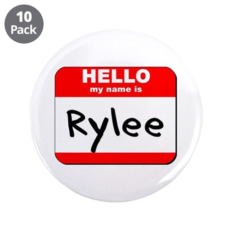 "Hello my name is Rylee 3.5"" Button (10 pack)"