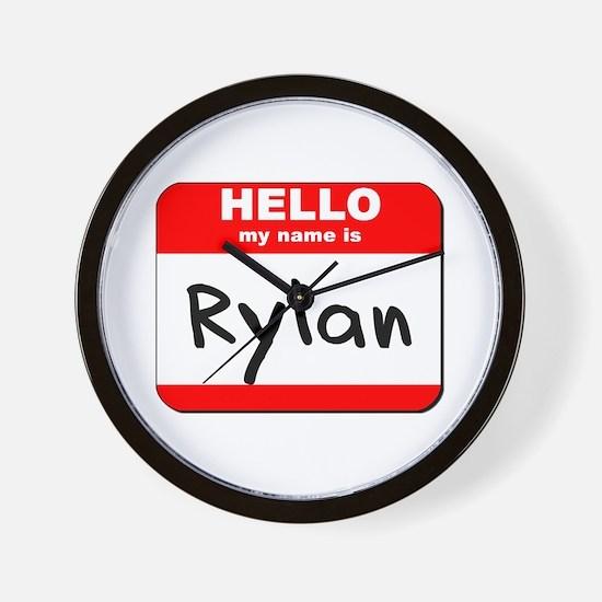 Hello my name is Rylan Wall Clock