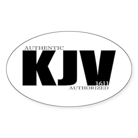 KJV Oval Sticker