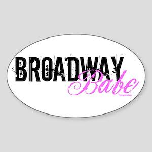 Broadway Babe Oval Sticker
