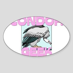 Condor Geek Oval Sticker