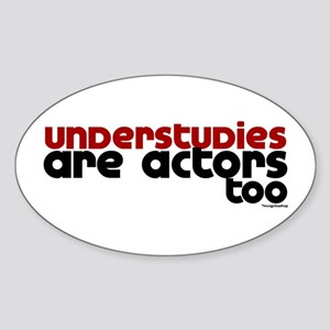 Understudies Oval Sticker