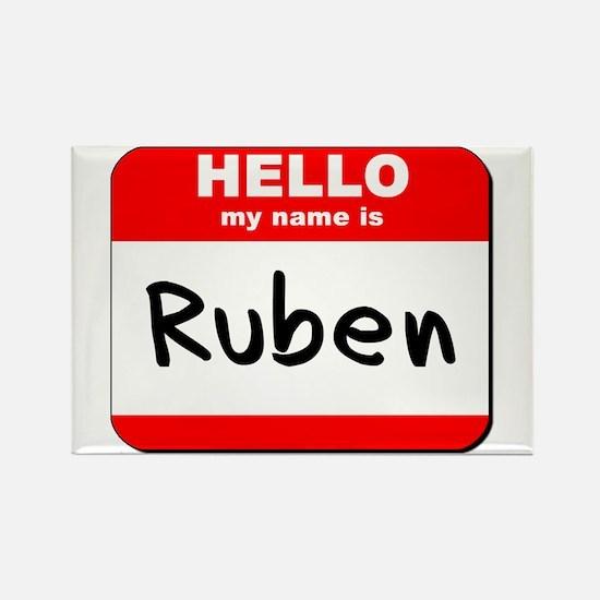 Hello my name is Ruben Rectangle Magnet