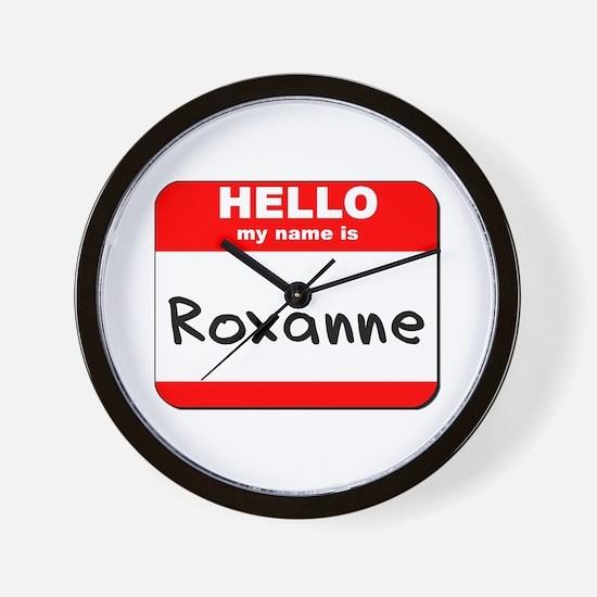 Hello my name is Roxanne Wall Clock