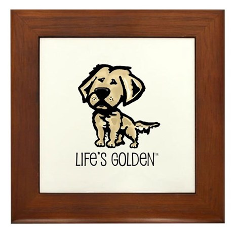 Life's Golden II Framed Tile