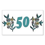 50th Birthday Gifts, Rectangle Sticker